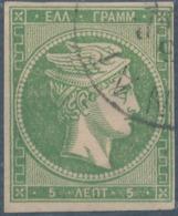 GREECE - 1862, Mi 18, Large Hermes, 5 Lept - Oblitérés