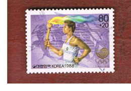 COREA  DEL SUD (SOUTH KOREA)   - SG 1835 -     1988  OLYMPIC GAMES: TORCH CARRIER  - USED ° - Corea Del Sur