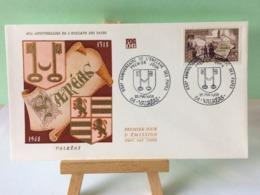 L'Enclave Des Papes 1318 - 84 Valréas - 25.5.1968 FDC 1er Jour Coté 2€ - FDC