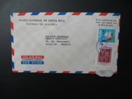 Lettre à Entête Banco Nacional De Costa Rica Sucursal De Alajuela   Pour La Sté Générale En France Bd Haussmann Paris - Costa Rica