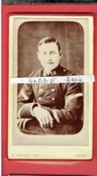 PHOTOGRAPHIE CDV MILITAIRE DU 78e PHOTOGRAPHE E. LAMAURY PRES LE MARCHE AUX POISSONS A GISORS EURE  EN TRES BON ETAT - War, Military