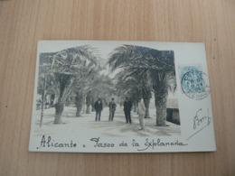 CP73 / ESPAGNE / ALICANTE PASEO DE LA EXPLANADA / CARTE VOYAGEE - España