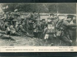 CPA - Infanterie Anglaise Abritée Derrière Un Mur, Très Animé - Guerra 1914-18