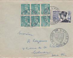 FRANCE - 1954 - Salon De L'armée Sur Lettre Pour Colmar - France