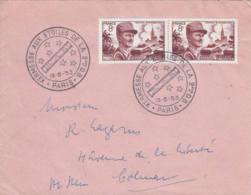 FRANCE - 1953 - Kermesse Aux étoiles Sur Lettre Pour Colmar - France