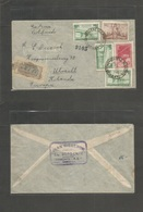 Argentina - Xx. 1947 (29 Sept) General Viamonte - Netherlands, Utrecht. Registered  Multifkd Airmail Env. VF Origin Usag - Non Classificati