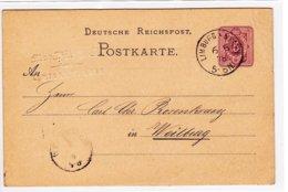 Postkarte Von Limburg Nach Weilburg, 1878 - Documentos Históricos