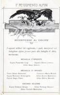 Militari - Reggimenti - Alpini - 1° Reg. Alpini Ricompense Al Valore - - Reggimenti