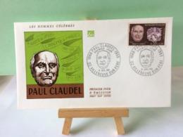 Paul Claude - 02 Villeneuve Sur Féré - 6.7.1968 FDC 1er Jour Coté 2€ - FDC
