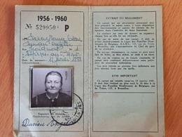 ESTINNES AU MONT Madame Deneufbourg Né 12/02/1988 Carte D'Identité, Réduction Chemin De Fer.1956 50% De Réduction - Titres De Transport