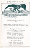 Militari - Reggimenti - Alpini - 3° Reg. Alpini  Ricompense Al Valore - - Reggimenti