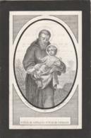 Bidprentje Moens-mariakerke 1870 - Devotion Images