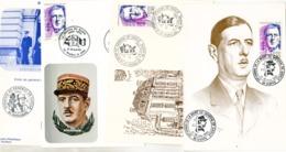 France 4 Souvenirs De Gaulle Cartes Postales - De Gaulle (General)
