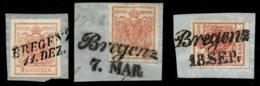 """Ausg. 1850 """" Bregenz """" Schönes Lot, #a1176 - Gebraucht"""