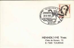 ALLEMAGNE - 1993 - Lettre Pour La Belgique - Compsognathus - Fósiles