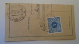 D168085 Czechoslovakia  Parcel Card 1938 - PRAHA- TVAROZNA (UKRAINE)  -Doplatni -Postage Due - Altri