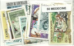 "Lot 50 Timbres Thematique "" Medecine "" - Berufe"