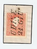 Lombardo Veneto. 5 Soldi Rosso N°30. 2° Emissione 1 Febbraio 1859. Dent.15 2° Tipo Su Frammento Annullo Udine - Lombardo-Veneto