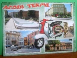 ACQUI TERME Vedute Scooter CARTOLINA Non  Viaggiata - Italia