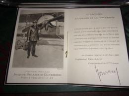 FAIRE-PART DE DECES AVIATEUR ELIE DECAZES DE GLUCKSBIERG COMTE DECAZES PILOTE ESCADRILLE C.28 AVIATION MILITAIRE GUERRE - 1914-18
