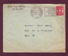 Cachet POSTE AUX ARMEES Du 10/06/1954 + Flamme - Sur Lettre En F.M. TREVES Pour PARIS - Cachets Militaires A Partir De 1900 (hors Guerres)