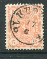 FINLAND 1882 5 P. Salmon Perforated 12½ On Medium Paper Used.  Michel 13 Byb - 1856-1917 Russian Government