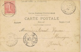 33955. Postal Romatique SAUVATERRE De GUYENNE (Gironde) 1904. Vintage - Francia