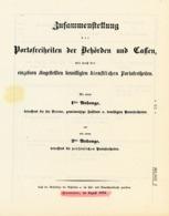 Zusammenstellung Der Portofreiheiten 1854 - Hannover