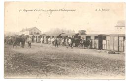 BESANCON  ( Doubs )    4eme  RÉGIMENT D'ARTILLERIE  EXERCICE D'EMBARQUEMENT EN TRAIN - Besancon