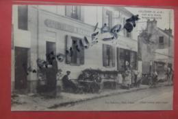 Cp Collegien Cafe De La Mairie Maison Debauve Tres Animé - France