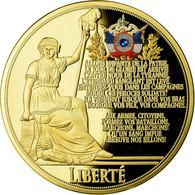 France, Médaille, Révolution Française, La Marseillaise, FDC, Copper Gilt - France