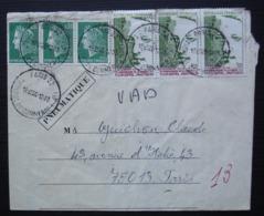 Pneumatique Paris 32 Tribunal De Commerce 1973 Avec Notes Manuscrites Impossibilité De Distribution Au Verso - Poststempel (Briefe)