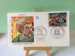 Paul Gauguin (Auto Portrait Au Christ Jaune) - Paris - 21.9.1968 FDC 1er Jour Coté 4€ (Arearea) - 1960-1969