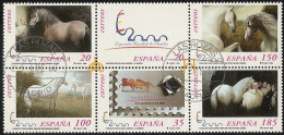1999-ED. 3679 A 84 En Bloque-CABALLOS CARTUJANOS '99-USADO - Blocs & Hojas