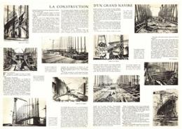 """CHANTIER De SAINT-NAZAIRE """" LA CONSTRUCTION D'UN PAQUEBOT  """" SUPER ILE DE FRANCE """"  1932 - Boats"""