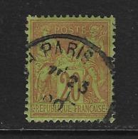 FRANCIA - CLÁSICO. Yvert Nº 96 Usado Y Defectuoso - 1876-1898 Sage (Tipo II)