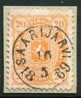 FINLAND 1885..20 P. Orange Used On Small Piece With Complete Saarijärvi Postmark.  Michel 22 - Gebraucht