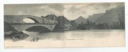 Cpa En Grenoble Les Ponts De Claix Panorama Carte Double 10,3x 14 Cm X2 , Imprimé - Grenoble
