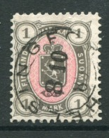 FINLAND 1885..1 Mk. Grey/rose Used.  Michel 24 - 1856-1917 Russian Government