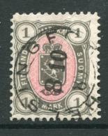 FINLAND 1885..1 Mk. Grey/rose Used.  Michel 24 - Usati