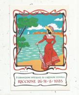 Cp, Bourses & Salons De Collections, Italie, Esposizione Internaz. Di Cartoline D'epoca ,RICCIONE ,1985 - Bourses & Salons De Collections