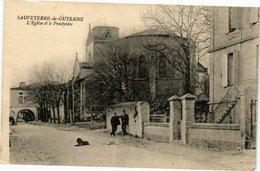 CPA SAUVETERRE-de-GUYENNE - L'Église Et Le Presbytée (229883) - France