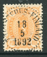FINLAND 1889 20 P. . Perforated 12½ Used With Upright Tavastehus-Finland.  Michel 30A - 1856-1917 Russian Government