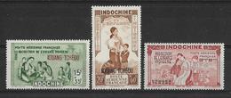 Kouang-Tchéou 1942 - Protection De L'enfance Indigène - PA  Y&T - N°1/2/3 ** P A -  Neufs Luxe (T.B.) - Unused Stamps
