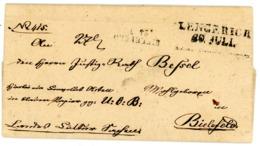 """Actenbrief 1834 Von """"LENGERICH"""" L 2 Nach Bielefeld - Inhalt - Deutschland"""