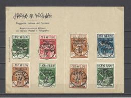 ITALIE  ARBE ET VEGLIA.  YT  N° 1/6-11/16 Timbres Exprès N°1/2-3/4  Oblitérations Sur Documents  1920 - 8. WW I Occupation
