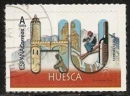 2019-ED. 5272 - 12 Meses, 12 Sellos. HUESCA -USADO - 1931-Today: 2nd Rep - ... Juan Carlos I