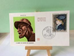 Auguste Renoir D'après Un Buste De Maillol - Paris - 9.11.1968 FDC 1er Jour Coté 3€ - 1960-1969