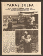 CINEMA 1962 - RESUME PITCH Du FILM TARAS BULBA - TONY CURTIS YUL BRYNNER CHRISTINE KAUFMANN - Sonstige