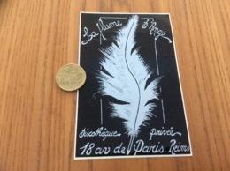 Ancien AUTOCOLLANT, Sticker «La Plume D'Ange - Discothèque Privée - Reims (51)» - Autocollants